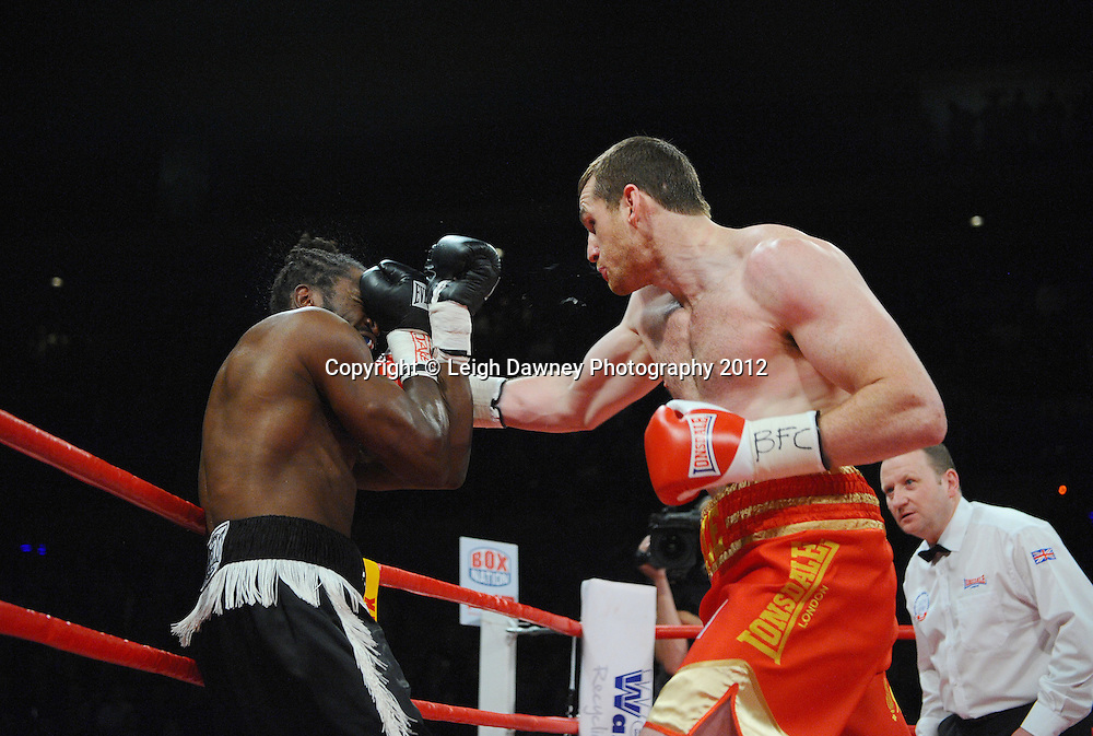 David Price defeats Audley Harrison to retain the British & Commonwealth Heavyweight Title at the Echo Arena, Liverpool on 13th October 2012. Frank Maloney Promotions © Leigh Dawney Photography 2012.