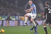 Aaron Mooy of Huddersfield Town (10) in action during the Premier League match between Huddersfield Town and Fulham at the John Smiths Stadium, Huddersfield, England on 5 November 2018.