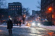 A cold night in Brooklyn, New York, USA 2014