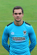 AFC Wimbledon goalkeeper James Shea at AFC Wimbledon Team Photo 02AUG16 at the Cherry Red Records Stadium, Kingston, England on 2 August 2016. Photo by Stuart Butcher.