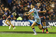 Adam Hastings passes during the 1872 Challenge Cup, Guinness Pro 14 2018_19 match between Edinburgh Rugby and Glasgow Warriors at BT Murrayfield Stadium, Edinburgh, Scotland on 22 December 2018.