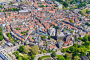 Nederland, Gelderland, Zutphen, 29-05-2019; Binnenstad met Sint Walburgiskerk en Librije.<br /> Overview of the town with St. Walburga Church and Librije (medieval library).<br /> <br /> luchtfoto (toeslag op standard tarieven);<br /> aerial photo (additional fee required);<br /> copyright foto/photo Siebe Swart