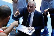 Sodini Marco time out Cantù, RED OCTOBER MIA CANTU' vs THE FLEXX PISTOIA, Campionato Lega Basket Serie A 2017/2018 21^ giornata, PalaDesio Desio 11 marzo 2018 - FOTO Bertani/Ciamillo