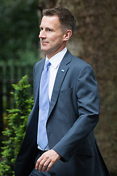 Downing Street, London, August 2nd 2016. Health Secretary Jeremy Hunt arrives at Downing Street for the Economic and Industrial Strategy Committee meeting. The committee is comprised of eleven cabinet ministers and has been set up by Prime Minister Theresa May to ensure that Britain is in the best position to successfully leave the European Union.