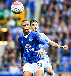 Everton's Brendan Galloway is chased by Jesus Navas of Manchester City  - Mandatory byline: Matt McNulty/JMP - 07966386802 - 23/08/2015 - FOOTBALL - Goodison Park -Everton,England - Everton v Manchester City - Barclays Premier League