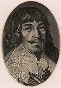Bernhard, Duke of Weimar (1604-1639). In the Thirty Years War (1618-1648) fought for Protestant cause under the banner of Gustavus Adolphus. Engraving.