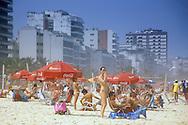 The city meets the beach in Rio de Janiero, Brazil.