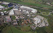aerial photograph of Birstall  Retail Park Leeds Yorkshire England UK