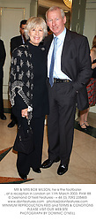 MR & MRS BOB WILSON, he is the footballer, at a reception in London on 11th March 2003.PHW 88