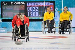 Angie  Malone, Jim Gault, Qiang Zhang, Guangqin Xu, Wheelchair Curling Finals at the 2014 Sochi Winter Paralympic Games, Russia