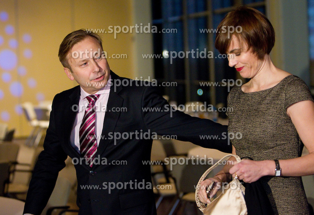 Dr. Peter Kukovica with his wife during the Slovenia's Athlete of the year award ceremony by Slovenian Athletics Federation AZS, on November 12, 2008 in Hotel Mons, Ljubljana, Slovenia.(Photo By Vid Ponikvar / Sportida.com) , on November 12, 2010.