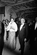 Le Bal des Petits Lits Blancs at Powerscourt, Co. Wicklow.  Princess Grace and Prince Rainier leaving the ball..04.07.1965