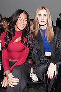 Brittany Mason (right) with guest at Nolcha Fashion Week New York Fall-Winter 2014. Nolcha Fashion Week New York is a leading award winning event, held during New York Fashion Week, for independent fashion designers to showcase their collections to a global audience of press, retailers, stylists and industry influencers. Over the past six years Nolcha Fashion Week: New York has established itself as a platform of discovery promoting innovative fashion designers through runway shows and exhibition. Nolcha Fashion Week: New York has built an acclaimed reputation as a hot incubator of new fashion design talent and is officially listed by New York City Economic Development Corporation; offering a range of cost effective options to increase designers recognition and develop their business. (Photo: www.JeffreyHolmes.com)