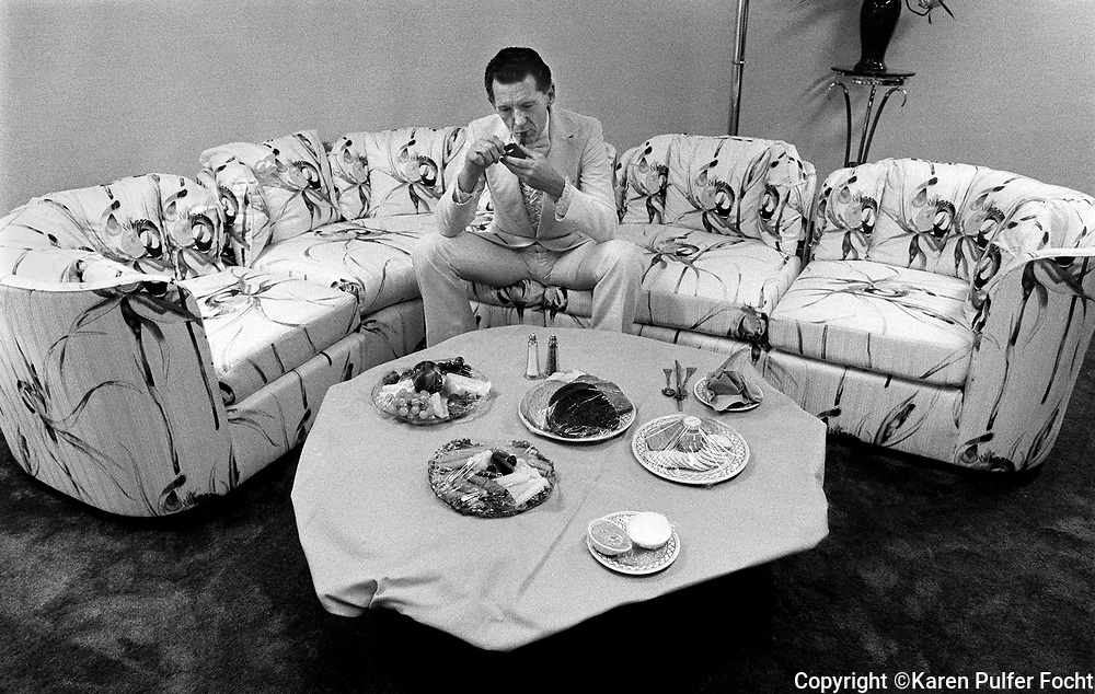 Jerry Lee Lewis relaxes in his dressing room before a 1989 show at Trump Castle, an Atlantic City hotel and casino owned by Donald Trump. The show drew 1,200 people.