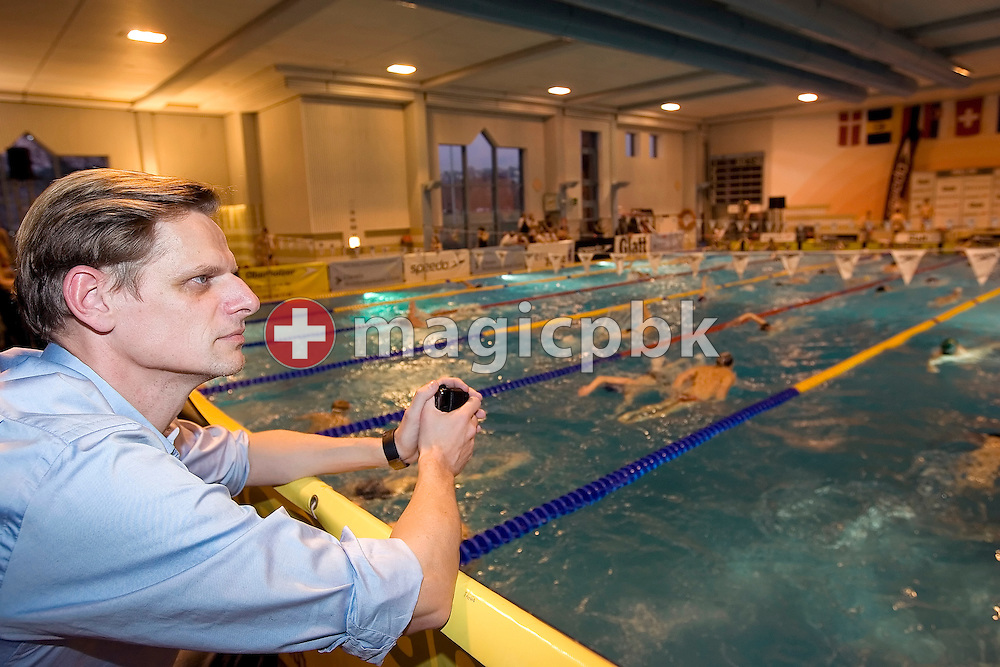 Swiss Swimming's new national high performance director Steffen Liess of Germany poses in the Buchholz pool at the International Swim Meet in Uster, Switzerland, Saturday, Jan. 26, 2008. (Photo by Patrick B. Kraemer / MAGICPBK)