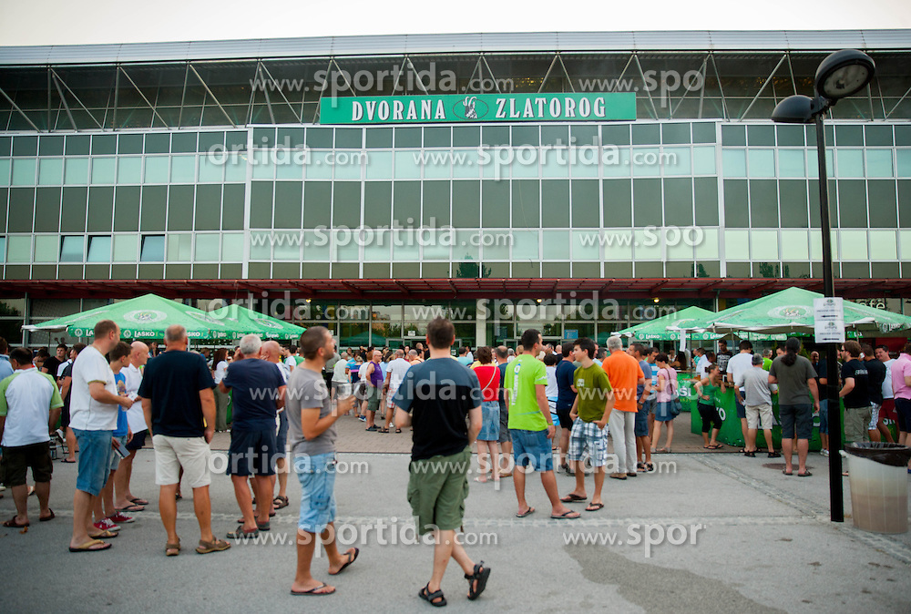 Arena Zlatorog, outside view prior to the friendly match between National teams of Slovenia and Turkey for Eurobasket 2013 on August 4, 2013 in Arena Zlatorog, Celje, Slovenia. (Photo by Vid Ponikvar / Sportida.com)
