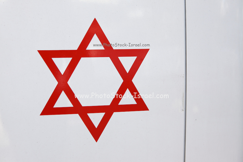 Magen David Adom, Israel's national emergency medical, disaster, ambulance and blood bank service.
