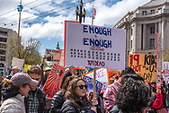 San Francisco, USA. 24th March, 2018. March for Our Lives rally and march to call for gun control and end gun violence. Shelly Rivoli/Alamy Live News