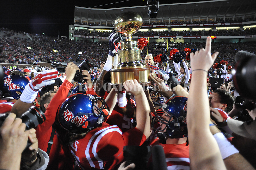 Ole Miss vs. Mississippi State at Vaught-Hemingway Stadium in Oxford, Miss. on Saturday, November 29, 2014. Ole Miss won 31-17.