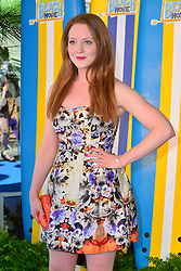 Teen Beach Movie Screening.<br /> Olivia Hallinan during screening of musical adventure where surfer teens mysteriously wind up in a classic beach party movie called Wet Side Story.  The Riverfront Cafe Bar, BFI, Belvedere Road, London, United Kingdom<br /> Sunday, 7th July 2013<br /> Picture by Nils Jorgensen / i-Images