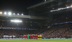 Liverpool and FC Porto hold a minute applause for Davide Astori, who passed away on 4th March 2018