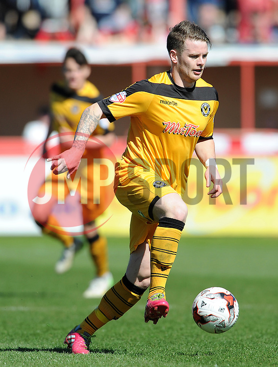 Newport County's Mark Byrne - Photo mandatory by-line: Harry Trump/JMP - Mobile: 07966 386802 - 06/04/15 - SPORT - FOOTBALL - Sky Bet League Two - Exeter City v Newport County - St James Park, Exeter, England.