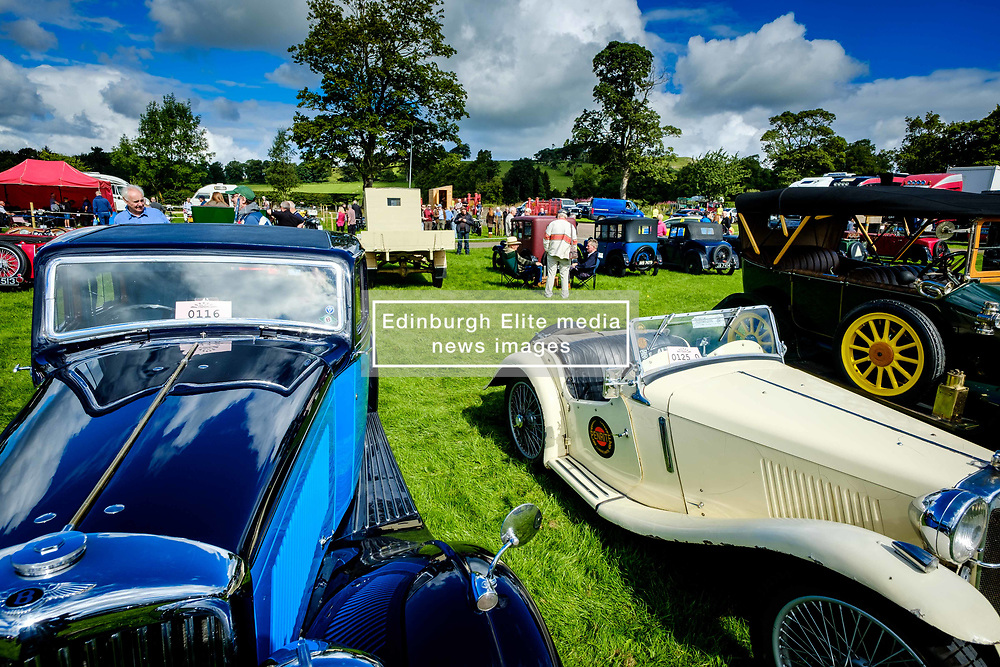 The 44th Biggar Vintage Vehicle Rally held in Biggar on 13th August 2017. General view of the showfield where hundreds of vintage vehicles were on display.<br /> <br /> (c) Andrew Wilson | Edinburgh Elite media