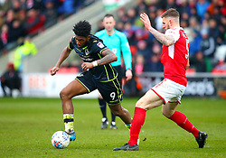 Ellis Harrison of Bristol Rovers takes on Ashley Eastham of Fleetwood Town - Mandatory by-line: Robbie Stephenson/JMP - 02/04/2018 - FOOTBALL - Highbury Stadium - Fleetwood, England - Fleetwood Town v Bristol Rovers - Sky Bet League One