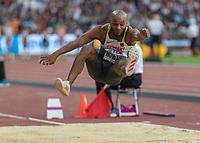Athletics - 2017 IAAF London World Athletics Championships - Day One<br /> <br /> Event: Men's Long Jump Qualifying <br /> <br /> Julian Howard (GER) leaps into the pit<br /> <br /> <br /> COLORSPORT/DANIEL BEARHAM