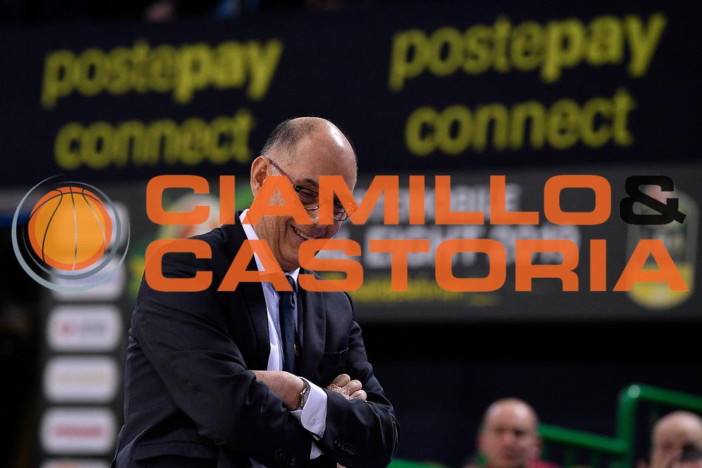 Attilio Caja of Pallacanestro Varese   Allenatore, Coach, Gesture,<br /> Openjobmetis Varese - Vanoli Cremona<br /> Postemobile Final Eight 2019 Zurich Connect<br /> Basket Serie A LBA 2018/2019<br /> FIRENZE, ITALY - 14 February 2019<br /> Foto Mattia Ozbot / Ciamillo-Castoria