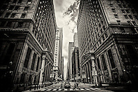 Financial District, LaSalle & Jackson Streets (monochrome)