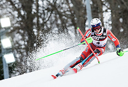 "Henrik Kristoffersen (NOR) competes during 1st Run of FIS Alpine Ski World Cup 2017/18 Men's Slalom race named ""Snow Queen Trophy 2018"", on January 4, 2018 in Course Crveni Spust at Sljeme hill, Zagreb, Croatia. Photo by Vid Ponikvar / Sportida"