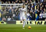 Liam Cooper of Leeds United during the EFL Sky Bet Championship match between Leeds United and Aston Villa at Elland Road, Leeds, England on 1 December 2017. Photo by Paul Thompson.