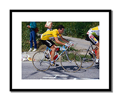 Stephen Roche, Tour de France 1987<br /> <br /> Taken on Alpe d'Huez five kilometres from the top, Roche had taken the jersey for the first time the day before. He was to lose the lead and then win it back from Pedro Delgado before clinching a famous victory in Paris.