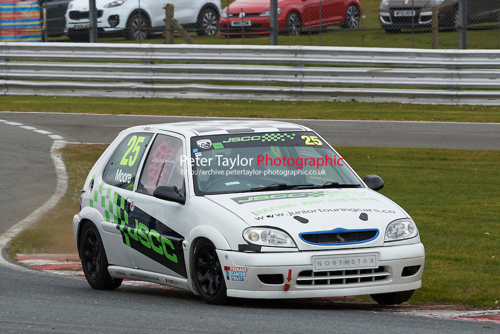 #25 Edward MOORE Citroen Saxo VTR 1600 during Junior Saloon Car Championship as part of the BARC NW - Championship Raceday  at Oulton Park, Little Budworth, Cheshire, United Kingdom. March 19 2016. World Copyright Peter Taylor/PSP. Copy of publication required for printed pictures.  Every used picture is fee-liable. http://archive.petertaylor-photographic.co.uk