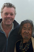 Apatani woman & Pete Oxford<br /> Apatani Tribe<br /> Ziro Valley, Lower Subansiri District, Arunachal Pradesh<br /> North East India
