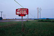Meredosia Motel sign in Meredosia, Illinois