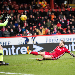 Aberdeen v Celtic, SPrem, 25th February 2018<br /> <br /> Aberdeen v Celtic, SPrem, 25th February 2018 &copy; Scott Cameron Baxter | SportPix.org.uk<br /> <br /> Stevie May comes close to opening the scoring.
