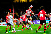 Exeter City's David Wheeler during the The FA Cup match between Exeter City and Port Vale at St James' Park, Exeter, England on 6 December 2015. Photo by Graham Hunt.