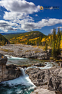 Elbow Falls in autumn in Kananaskis Country, Alberta, Canada