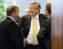 Jean-Claude Juncker, Luxembourg's prime minister, speaks with colleagues, before the start of the European Summit, in Brussels, Thursday, June 18, 2009. (Photo © Jock Fistick)