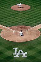 May 13, 2007: Graphic overview of the pitchers mound and home plate during the Dodgers 10-5 win over the Cincinnati Reds at Dodger Stadium during a day game in Los Angeles, CA.