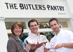 Repro Free: 10/11/2012.The Butler's Pantry Serving Up Fantastic Food for 25th Years!.Jacquie Marsh, Eoin Warner and Niall Hill celebrating the Butler's Pantry 25th Birthday this weekend at their newly refurbished Sandymount Shop with their new packaging. Pic Andres Poveda..For further information please contact : Ann-Marie Sheehan, Aspire PR, Telephone 087 298 5569 or email annmarie@aspire-pr.com