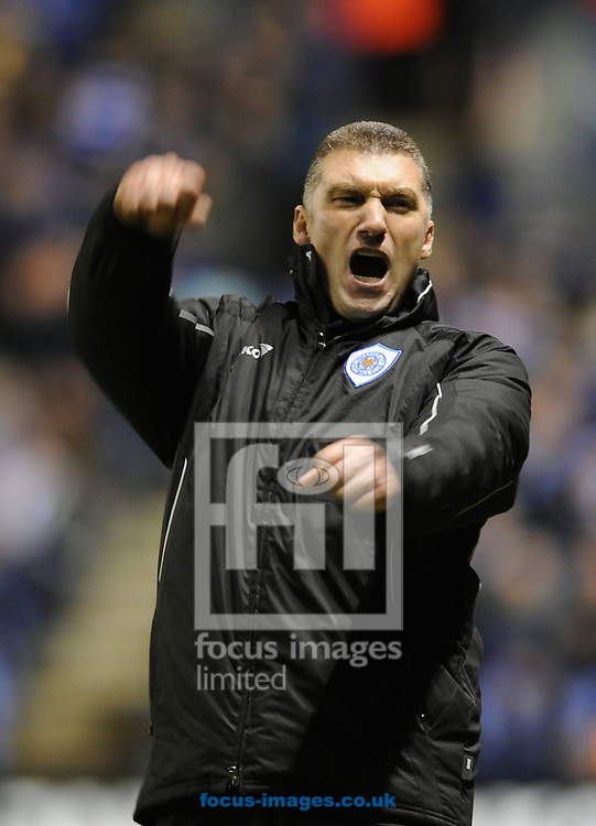Leicester - Saturday December 22th, 2008: Leicester City manager, Nigel Pearson, celebrates his teams 4th goal during the Coca Cola League One match at The Walkers Stadium, Leciester. (Pic by Alex Broadway/Focus Images)