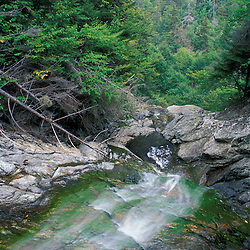 Nancy Brook Scenic Area, White Mountain N.F. View from the top of Nancy Cascades.  Waterfalls. Livermore, NH