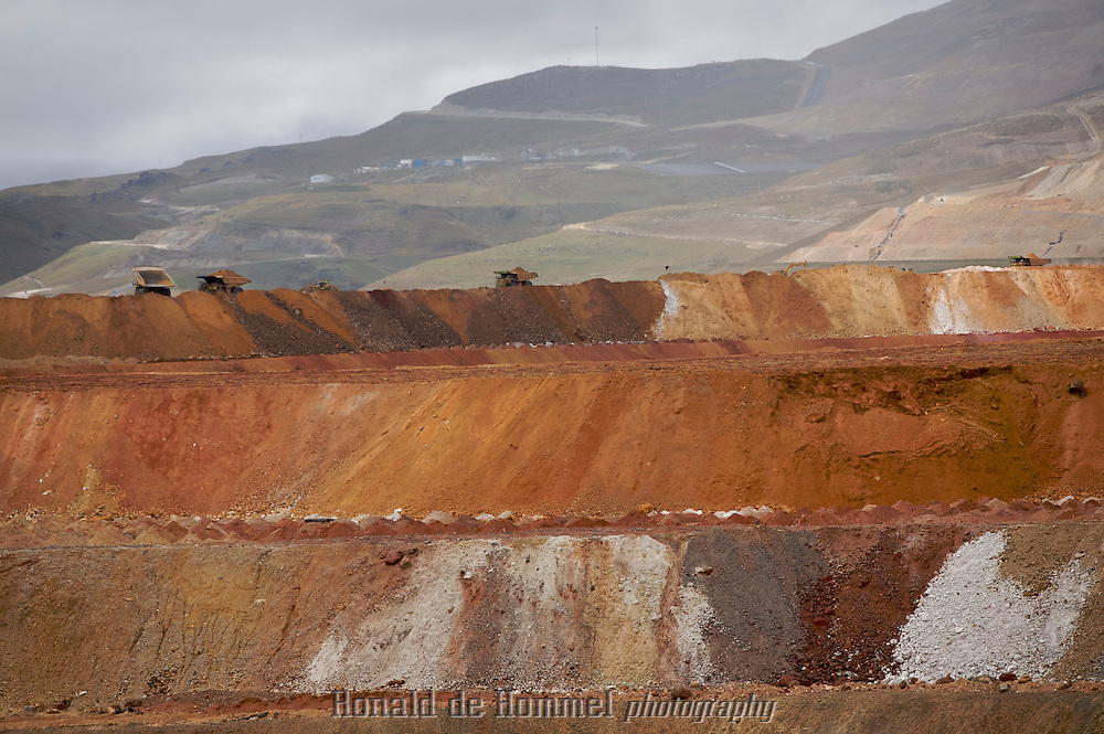The Yanacocha mine in the Peruvian Andes is the largest and most profitable gold mine in Latin America..Minera Yanacocha is a huge open pit gold mine spreading over a concession of about 25,000 hectares and approximately 47 kilometers by road to the town of Cajamarca, about 850 kilometers from the capital, Lima. .Environmentalists and local villagers have complained about Cyanide pollution in the region. .Minera Yanacocha, S.A. (MYSA) is a joint venture between US -based Newmont Mining Corporation with  Condesa, which is a subsidiary of the Peruvian company Minas Buenaventura and the IFC..