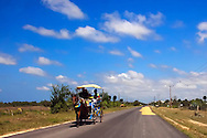 Drying rice in Jesus Menendez, Las Tunas, Cuba.