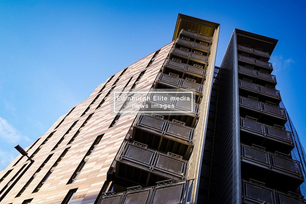 Modern multi-storey housing at Wharton Square in central Edinburgh  part of the Quartermile development.<br /> <br /> (c) Andrew Wilson   Edinburgh Elite media