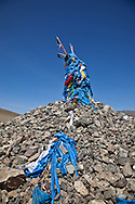 Mongolia. ovo, buddhist place of worship  in terelg