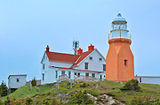 Long Point Lighthouse at Crow Head. Atlantic Ocean.<br />